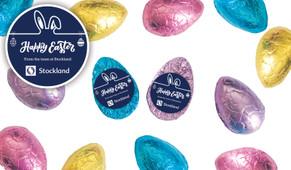 Corporate Personalised Chocolate Half Easter Eggs
