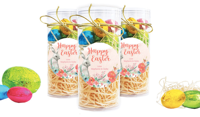 Floral Corners Personalised Easter Egg Tube