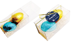 Corporate Personalised Easter Egg Slide Box With Swing Tag