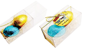 Dabbing Bunny Personalised Easter Egg Slide Box With Swing Tag