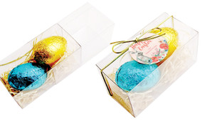Floral Corners Personalised Easter Egg Slide Box With Swing Tag