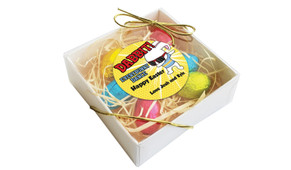 Dabbing Bunny Personalised Easter Egg Nest Box