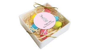 Watercolour Bunny Personalised Easter Egg Nest Box