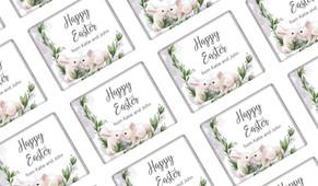 Bunny Kiss Personalised Easter Mini Chocolates