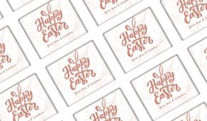 Rose Gold Personalised Easter Mini Chocolates