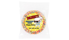 Dabbing Bunny Personalised Easter Giant Chocolate Freckles