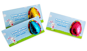 Big Egg Bunny Personalised Easter Egg Card
