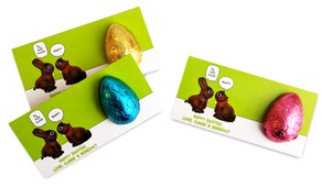 Chocolate Bunnies Personalised Easter Egg Card