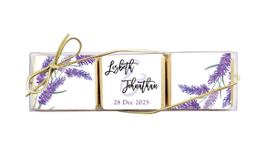 Lavender Flowers Custom Mini Chocolate Trio Favour