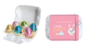 Funny Bunny Personalised Easter Egg Carton