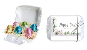 Bunny Kiss Personalised Easter Egg Carton