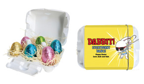 Dabbing Bunny Personalised Easter Egg Carton