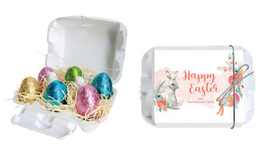 Floral Corners Personalised Easter Egg Carton