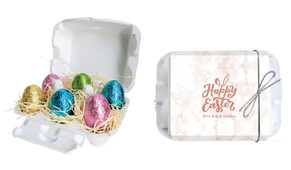 Rose Gold Personalised Easter Egg Carton