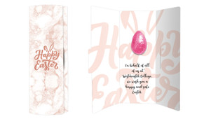 Rose Gold Easter Chocolate Greeting Card