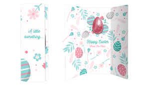 Easter Elements Chocolate Greeting Card