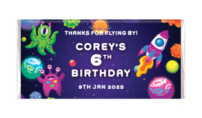 Outerspace Personalised Chocolate Bars - Australia's #1 Kids Party Supplies