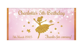 Golden Ballerina Personalised Chocolate Bars - Australia's #1 Kids Party Supplies
