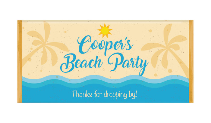 Beach Party Personalised Chocolate Bars - Australia's #1 Kids Party Supplies