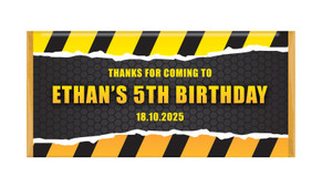 Construction Builders Personalised Chocolate Bars - Australia's #1 Kids Party Supplies