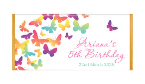 Butterflies Personalised Chocolate Bars - Australia's #1 Kids Party Supplies