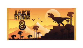 Prehistoric Dinosaur Personalised Chocolate Bars - Australia's #1 Kids Party Supplies