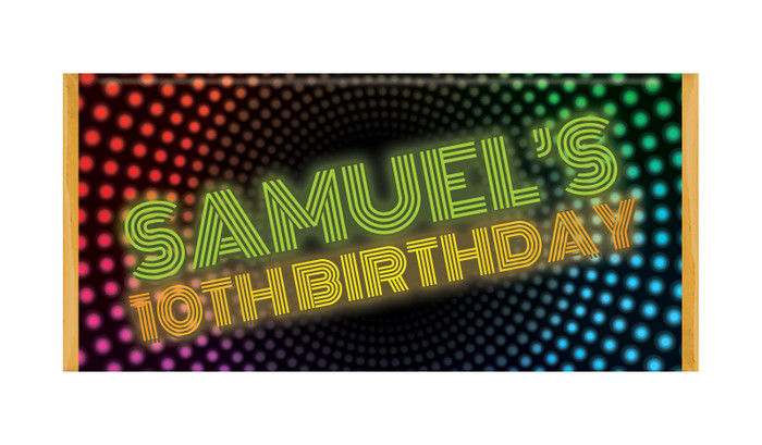 Disco Lights Personalised Chocolate Bars - Australia's #1 Kids Party Supplies