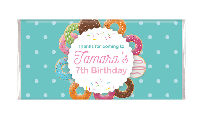 Donut Party Personalised Chocolate Bars - Australia's #1 Kids Party Supplies