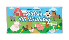 Down The Farm Personalised Chocolate Bars - Australia's #1 Kids Party Supplies