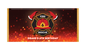 Firefighter Personalised Chocolate Bars - Australia's #1 Kids Party Supplies