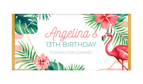 Flamingle Flamingo Personalised Chocolate Bars - Australia's #1 Kids Party Supplies