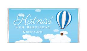 Hot Air Balloon Birthday Party Personalised Chocolate Bars