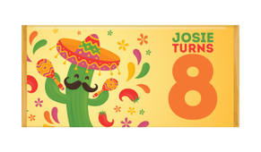Mexican Fiesta Personalised Chocolate Bars - Australia's #1 Kids Party Supplies