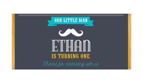Moustache Personalised Chocolate Bars - Australia's #1 Kids Party Supplies