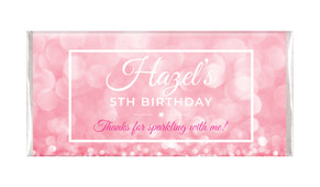 Pink Glitter Personalised Chocolate Bars - Australia's #1 Kids Party Supplies