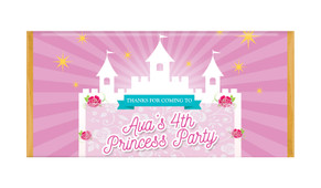 Princess Castle Personalised Chocolate Bars - Australia's #1 Kids Party Supplies