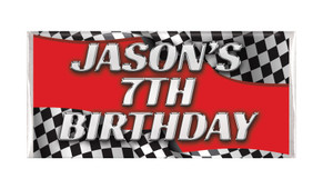 Racing Car Personalised Chocolate Bars - Australia's #1 Kids Party Supplies