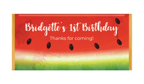 Watermelon Party Personalised Chocolate Bars - Australia's #1 Kids Party Supplies