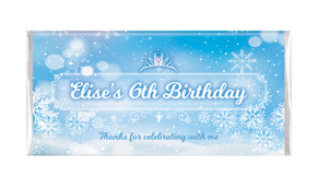 Ice Princess Birthday Party Personalised Chocolate Bars