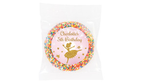 Golden Ballerina Personalised Giant Freckles - Australia's #1 Kids Party Supplies
