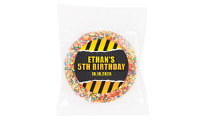 Construction Builders Personalised Giant Freckles - Australia's #1 Kids Party Supplies
