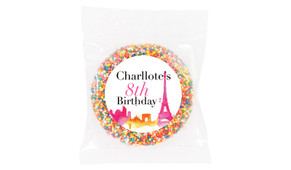 Paris Watercolour Personalised Giant Freckles - Australia's #1 Kids Party Supplies