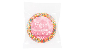 Pink Glitter Personalised Giant Freckles - Australia's #1 Kids Party Supplies