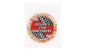 Racing Car Personalised Giant Freckles - Australia's #1 Kids Party Supplies