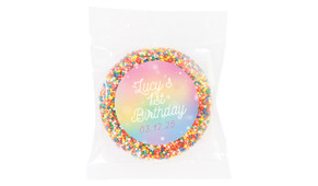 Rainbow Sparkle Personalised Giant Freckles - Australia's #1 Kids Party Supplies