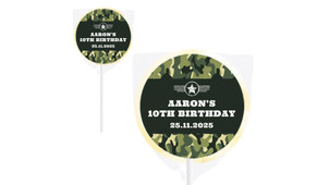 Army Personalised Lollipops - Australia's #1 Kids Party Supplies