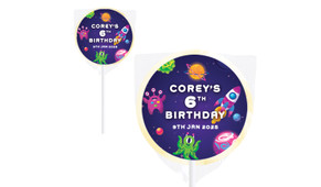 Outerspace Personalised Lollipops - Australia's #1 Kids Party Supplies