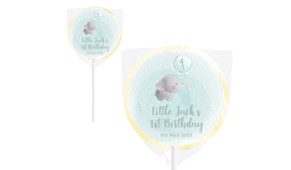 Elephant Balloon Birthday Personalised Lollipops - Australia's #1 Kids Party Supplies