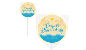 Beach Party Personalised Lollipops - Australia's #1 Kids Party Supplies