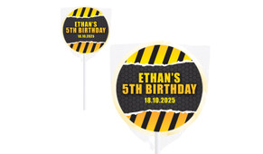 Construction Builders Personalised Lollipops - Australia's #1 Kids Party Supplies